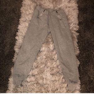 High waist zipper sweat pants